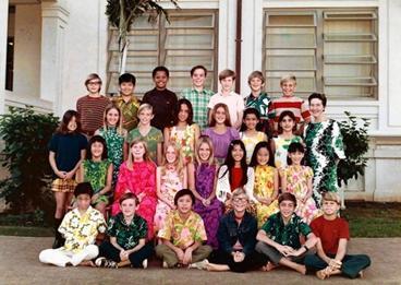 Obama (paling belakang ke 3 dari kiri), sedang berpose bersama teman-teman seangkatannya (kelas 5), di Sekolah Dasar