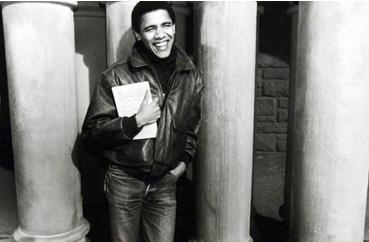 Obama, ketika sebagai mahasiswa jurusan hukum di Harvard Law  School