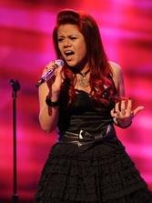 Allison Iraheta performing in front of the judges on American Idol