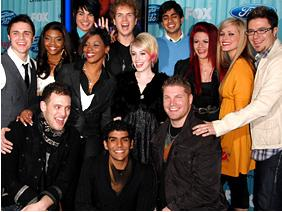 "The ""American Idol 2009"" top 13"
